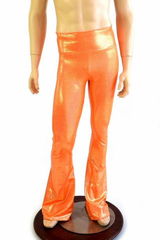 Mens Orange Bootcut Pants - Coquetry Clothing
