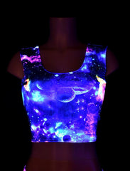 Galaxy Tank Crop Top - Coquetry Clothing