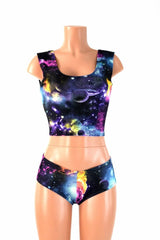 Galaxy Tank Crop & Cheekies Set - Coquetry Clothing