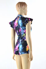 Deep Plunging V Galaxy Romper - Coquetry Clothing