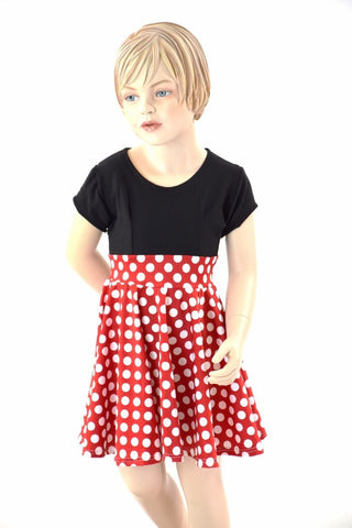 Girls Retro Minnie Skater Dress