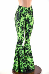 Green Lightning Bell Bottoms