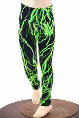Kids Green Lightning Leggings - Coquetry Clothing
