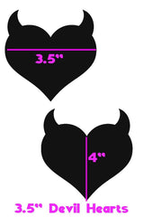 Grape Holographic Devil Heart Pasties - Coquetry Clothing