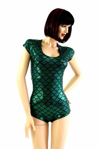Green Dragon Scale Romper - Coquetry Clothing