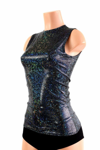 Full Length Crew Neck Holographic Top - Coquetry Clothing