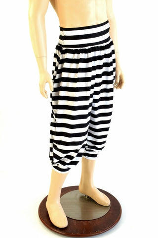 """Michael"" Pants in Black & White Stripe - Coquetry Clothing"