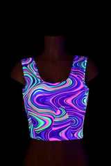 Neon Glow Worm Tank Crop - Coquetry Clothing