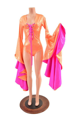 Neon Orange & Pink Sorceress Romper - Coquetry Clothing