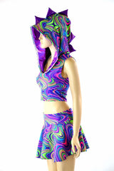 Glow Worm Neon Dragon Set - Grape - Coquetry Clothing