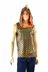 Mens Sleeveless Dragon Hoodie - Coquetry Clothing