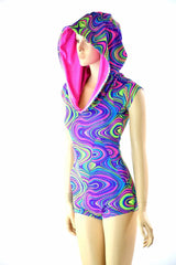 Neon Glow Worm Romper - Coquetry Clothing