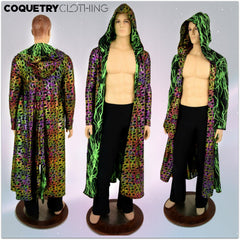 Long Sleeve Reversible Hooded Duster - Coquetry Clothing