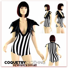 Demonica Collared Romper - Coquetry Clothing