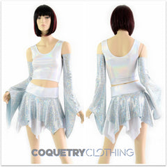 Pixie Day-Tripper Set in Frostbite and Flashbulb - Coquetry Clothing