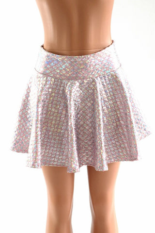 Baby Pink Mermaid Scale Rave Skirt