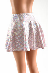 Baby Pink Mermaid Scale Rave Skirt - Coquetry Clothing