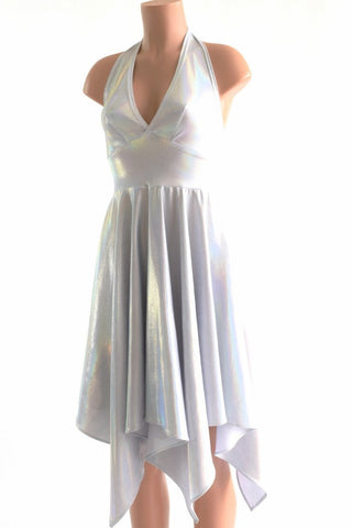 Handkerchief Hemline Halter Dress - Coquetry Clothing