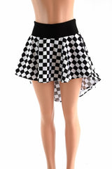 Checkered Hi-Lo Mini Skirt - Coquetry Clothing