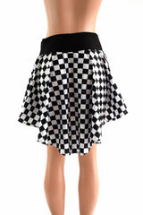 Checkered Hi-Lo Mini Skirt