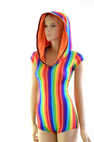 Rainbow Hoodie Romper - Coquetry Clothing