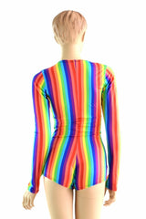 Long Sleeve Rainbow Romper - Coquetry Clothing