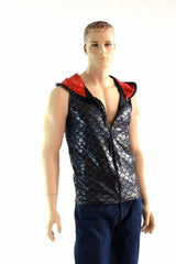 Mens Zipper Front Dragon Hoodie - Coquetry Clothing