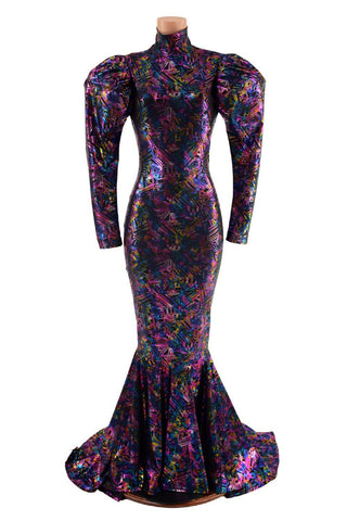 Cyberspace Puddle Train Gown - Coquetry Clothing