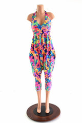 Halter Top Drop Crotch Harem Jumpsuit - Coquetry Clothing
