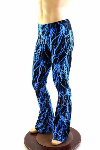 Mens Bootcut Leggings in Neon Lightning - Coquetry Clothing