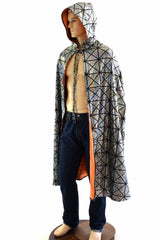 Jen's Huge Hooded Holographic Festival Cape - Coquetry Clothing