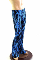 Mens Bootcut Leggings in Neon Lightning