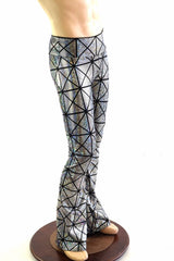 Mens Holographic Bootcut Leggings