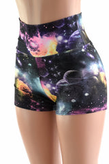 High Waist Space Shorts - Coquetry Clothing
