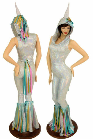 Frostbite Holographic Unicorn Catsuit - Coquetry Clothing