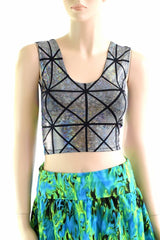 Two Tone Reversible Tank Crop Top - Coquetry Clothing