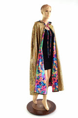 Huge Hooded Holographic Festival Cape - Coquetry Clothing
