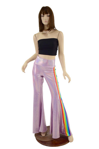 Lilac Holographic Retro Rainbow Solar Flares Coquetry Clothing