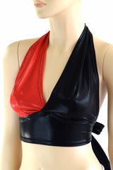 Harlequin Red & Black Halter - Coquetry Clothing