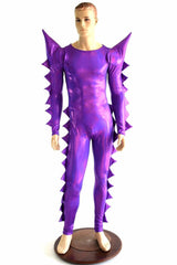 Spiked Mega Sharp Shoulder Catsuit - Coquetry Clothing