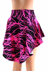 Neon Lightning Print Hi-Lo Mini Skirt