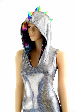 Rainbow Spiked Dragon Catsuit - Coquetry Clothing