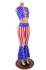 Patriotic Bell Bottoms & Keyhole Top Set - Coquetry Clothing