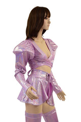 5PC Lilac Holographic Set - Coquetry Clothing