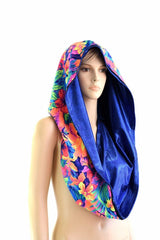 HUGE Tahitian& Blue Festival Hood - Coquetry Clothing