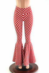 Minnie Polka Dot Bell Bottom Flares - Coquetry Clothing