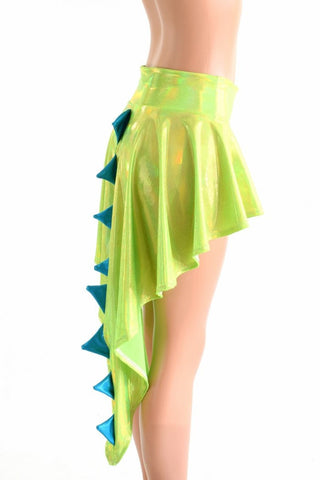 Holographic  Dragon Tail Skirt - Coquetry Clothing