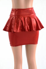 Bodycon Peplum Skirt -Choose Color - Coquetry Clothing
