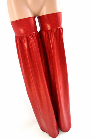 Red Metallic Stilt Covers - Coquetry Clothing
