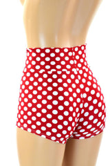 Polka Dot High Waist Shorts - Coquetry Clothing